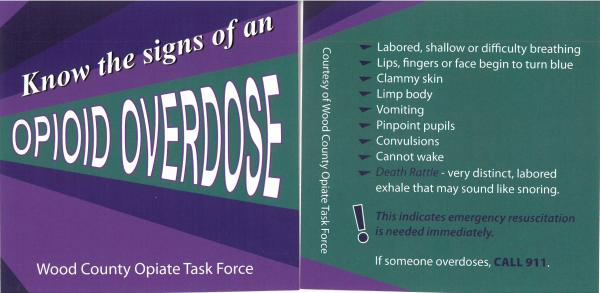 Signs of an Overdose brochure